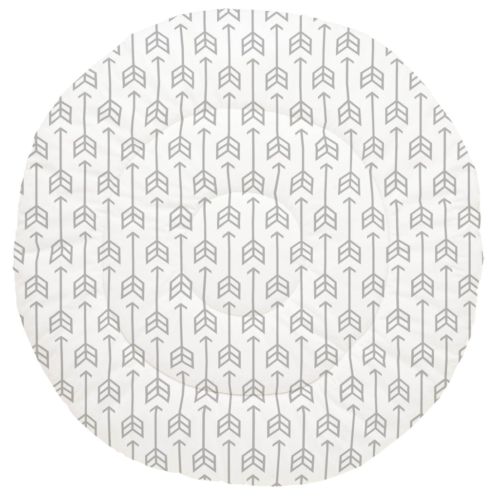Product image for Silver Gray Arrow Baby Play Mat