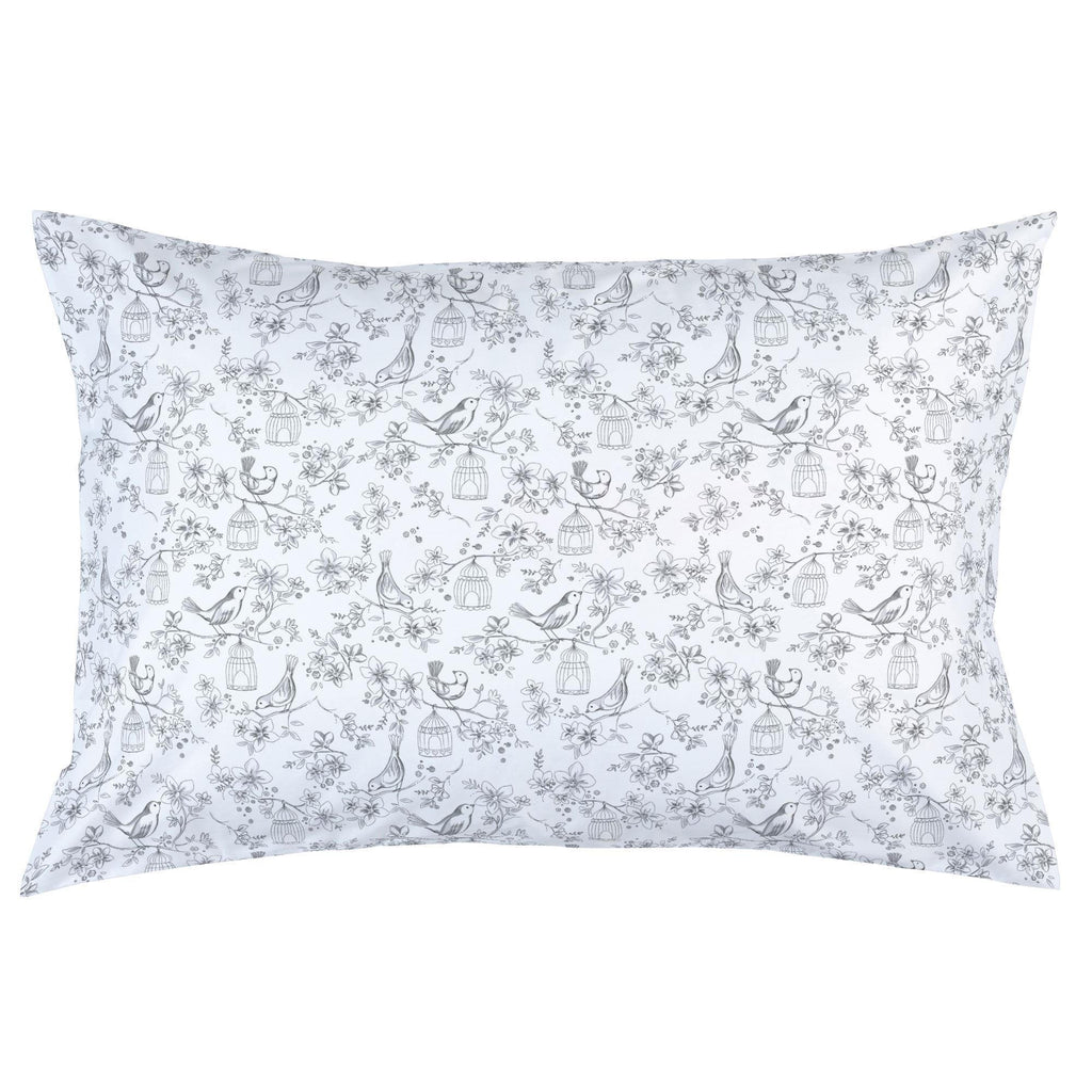 Product image for White and Gray Bird Cage Pillow Case