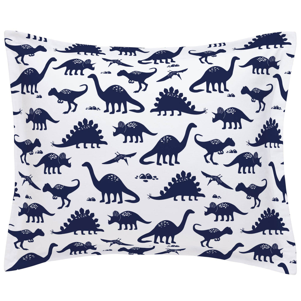 Product image for Navy Dinosaurs Pillow Sham