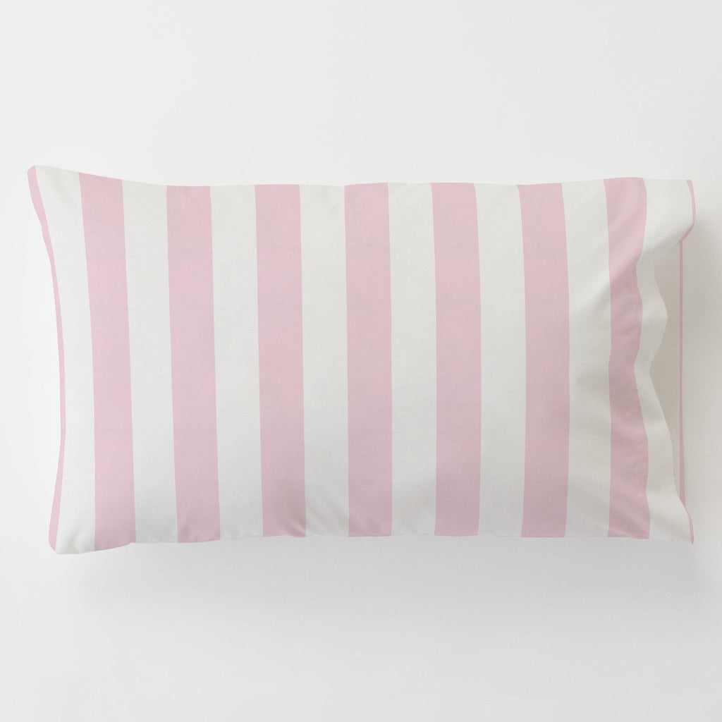 Product image for Pink Stripe Toddler Pillow Case with Pillow Insert