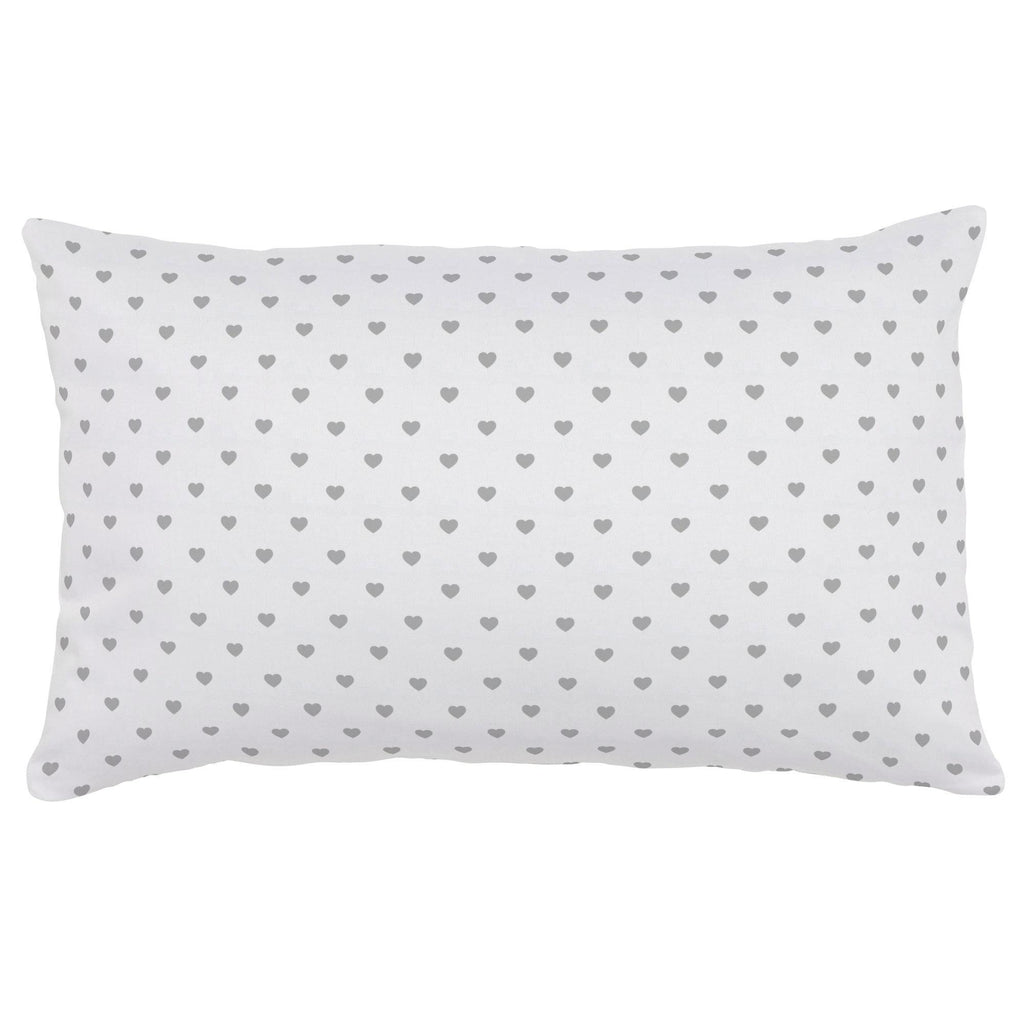 Product image for Gray Hearts Lumbar Pillow
