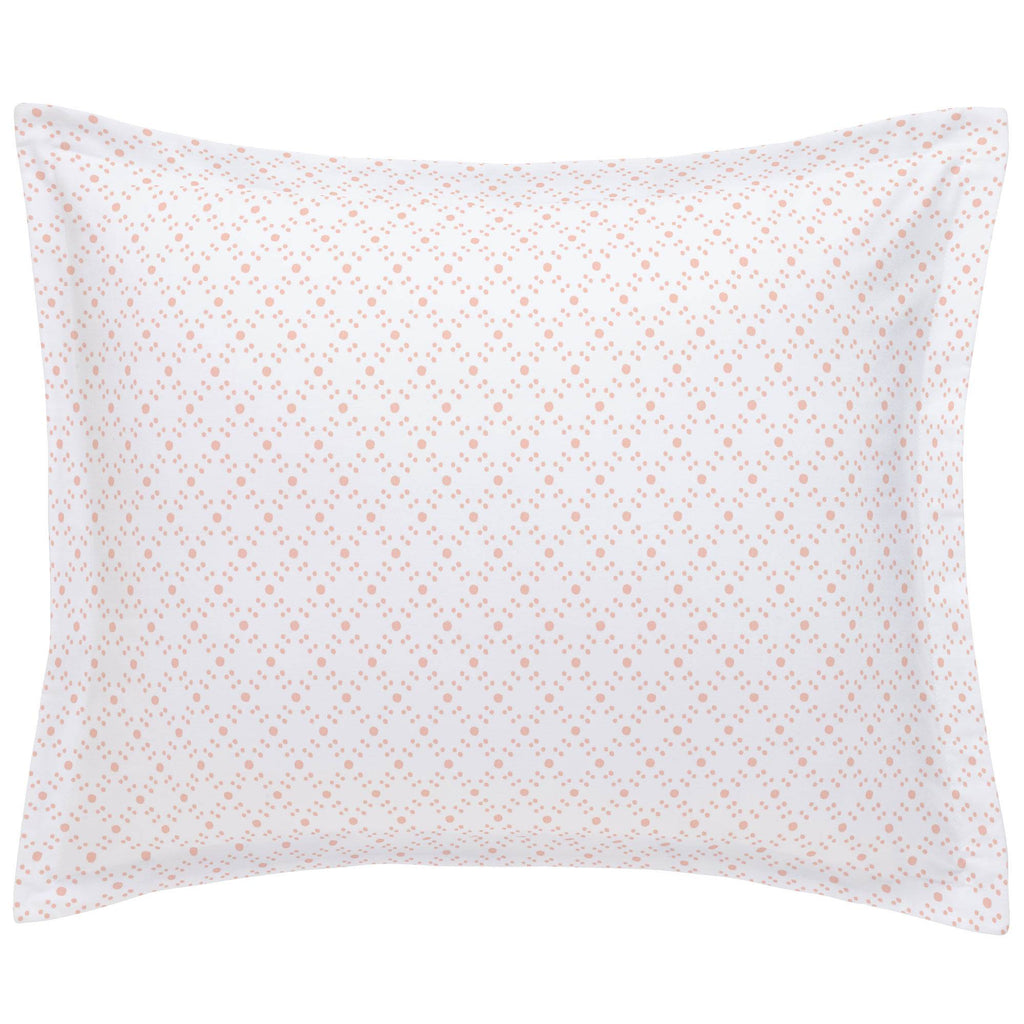 Product image for Peach Lattice Dots Pillow Sham