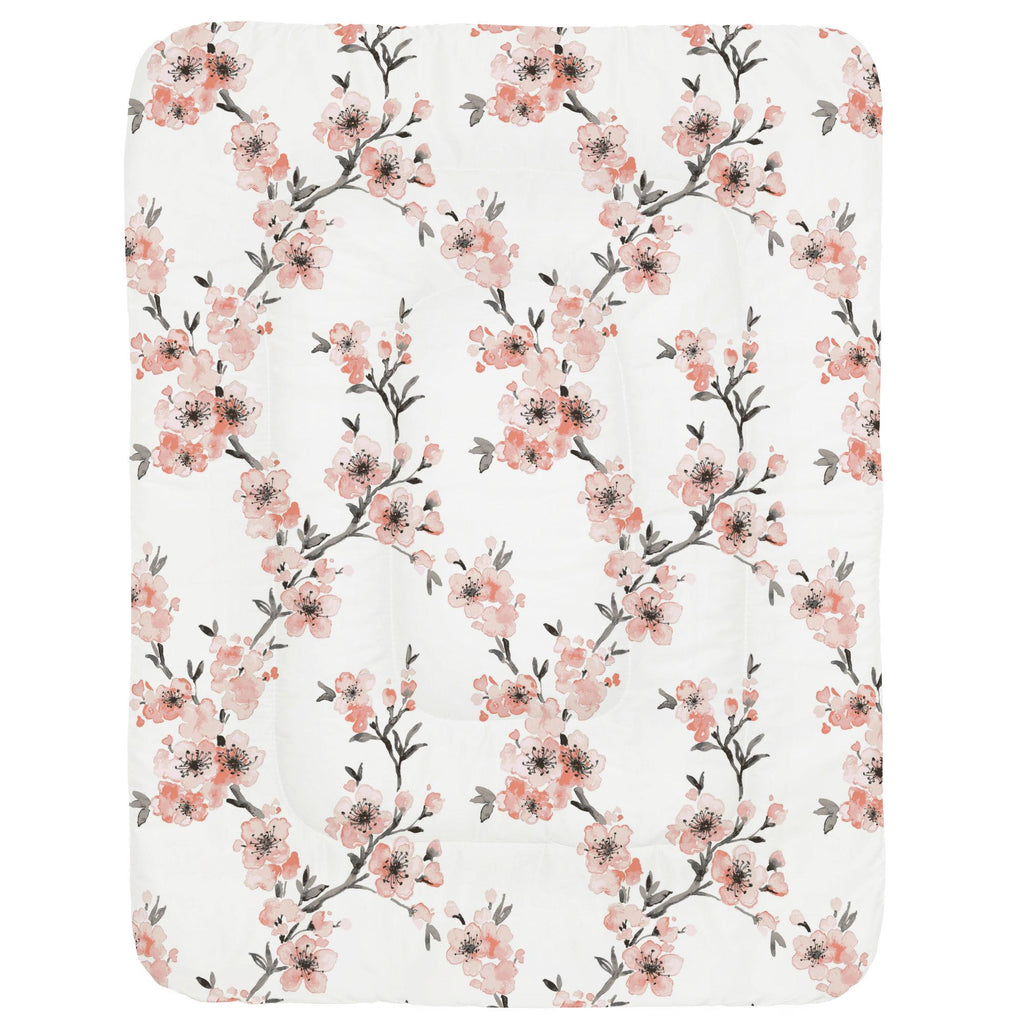 Product image for Light Coral Cherry Blossom Crib Comforter