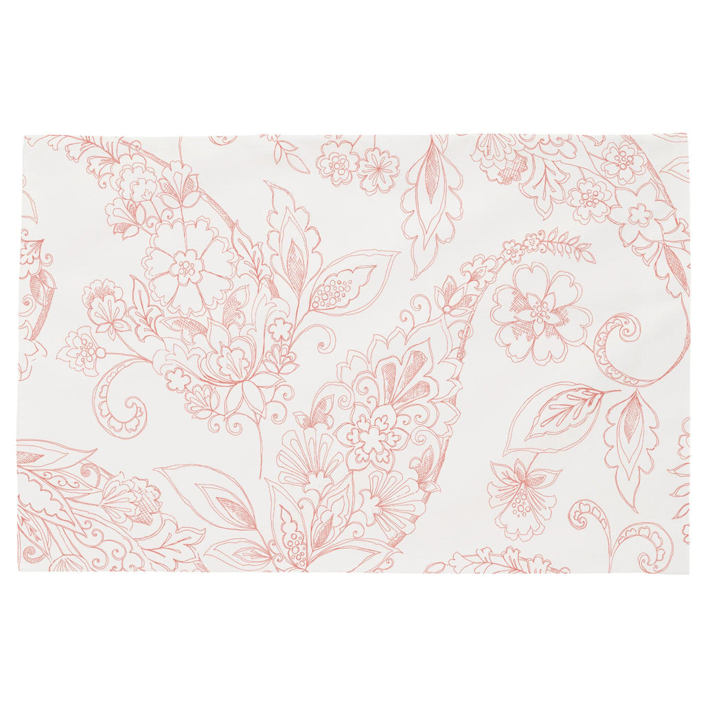 Product image for Light Coral Sketchbook Floral Toddler Pillow Case