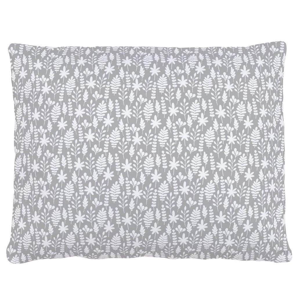 Product image for Gray and White Ferns Accent Pillow