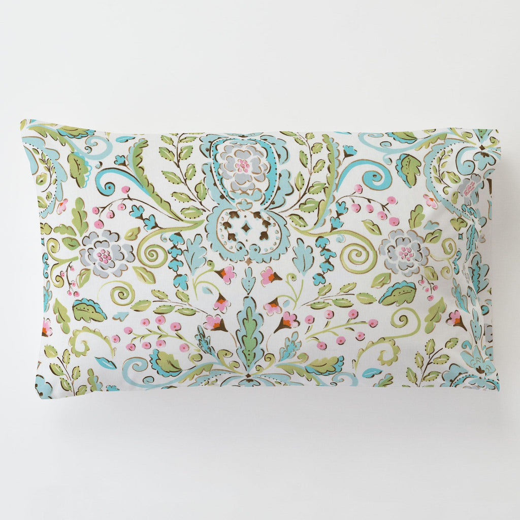 Product image for Love Bird Damask Toddler Pillow Case with Pillow Insert