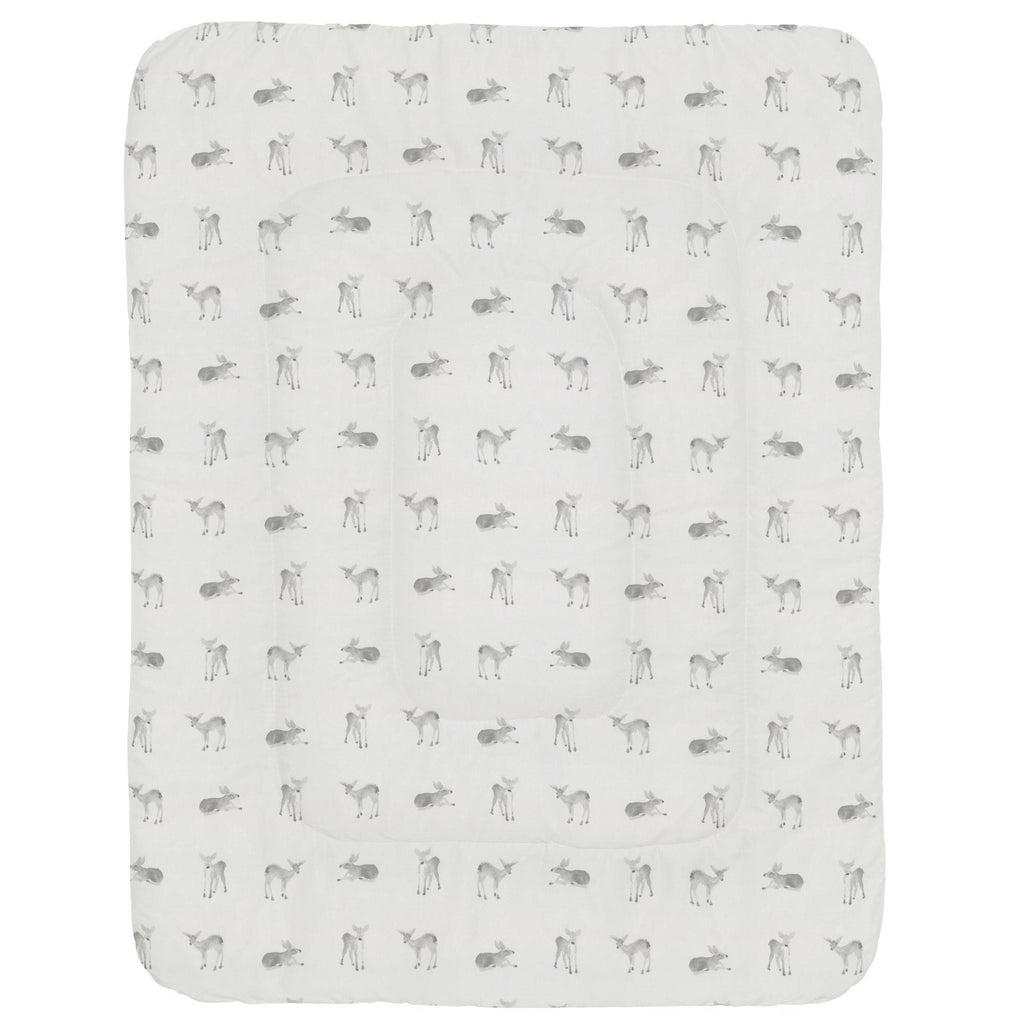 Product image for Silver Gray Fawns Crib Comforter