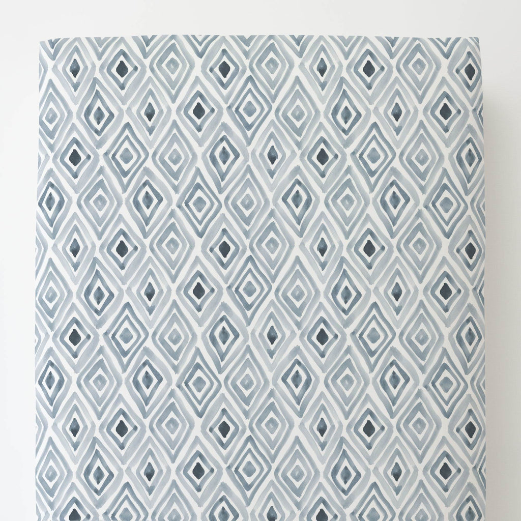 Product image for Steel Blue Painted Diamond Toddler Sheet Bottom Fitted