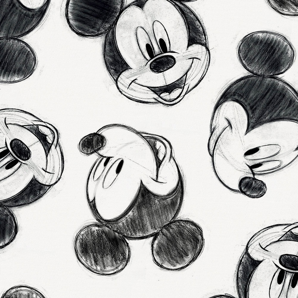 Product image for Disney© Charcoal Mickey Mouse Fabric