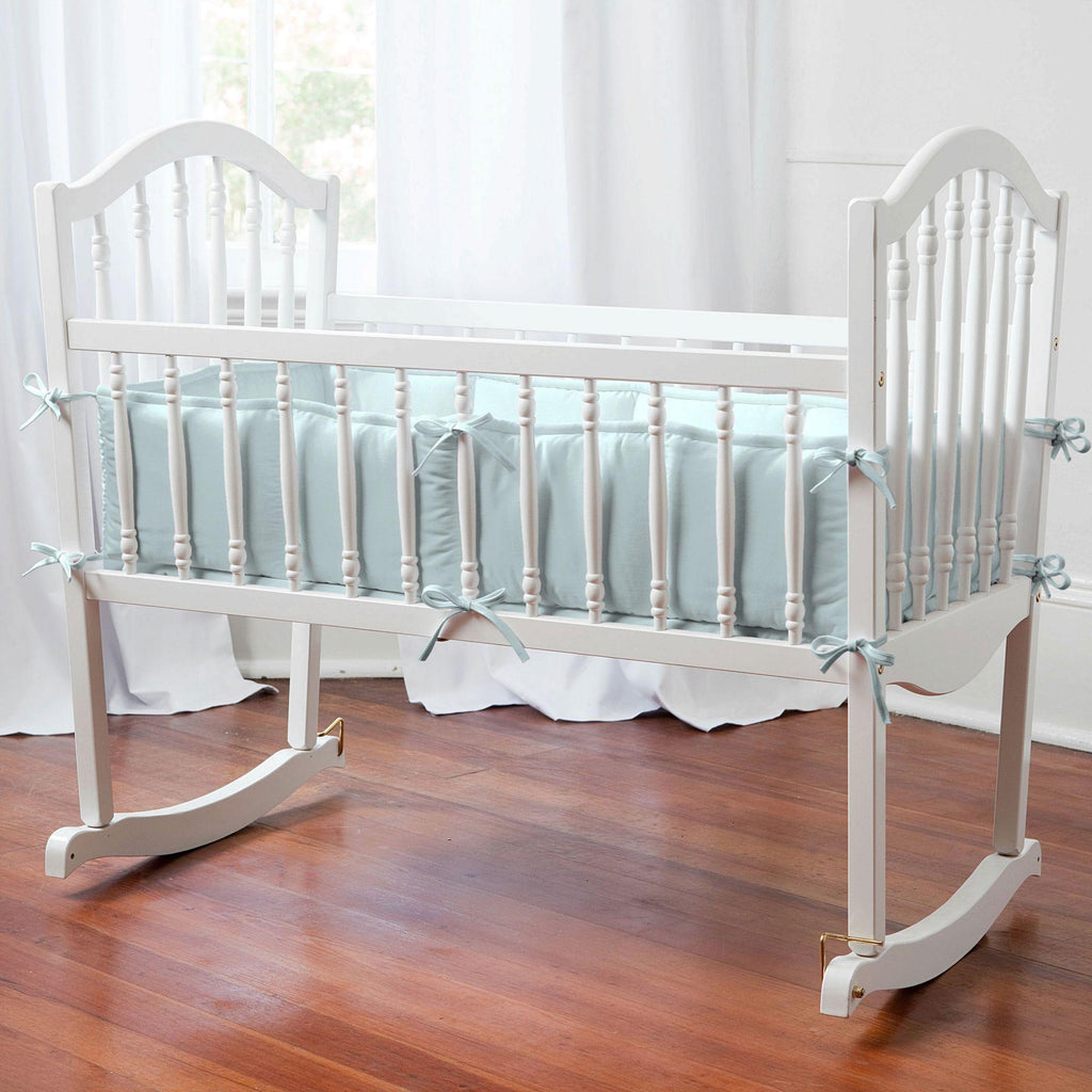 Product image for Solid Robin's Egg Blue Cradle Bumper