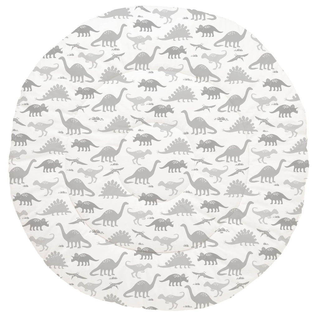 Product image for Gray Dinosaurs Baby Play Mat