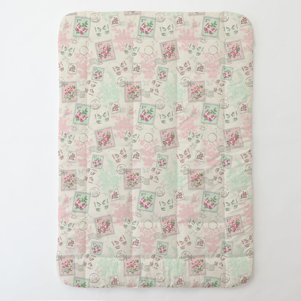 Product image for Blush and Ivory Vintage Stamp Toddler Comforter