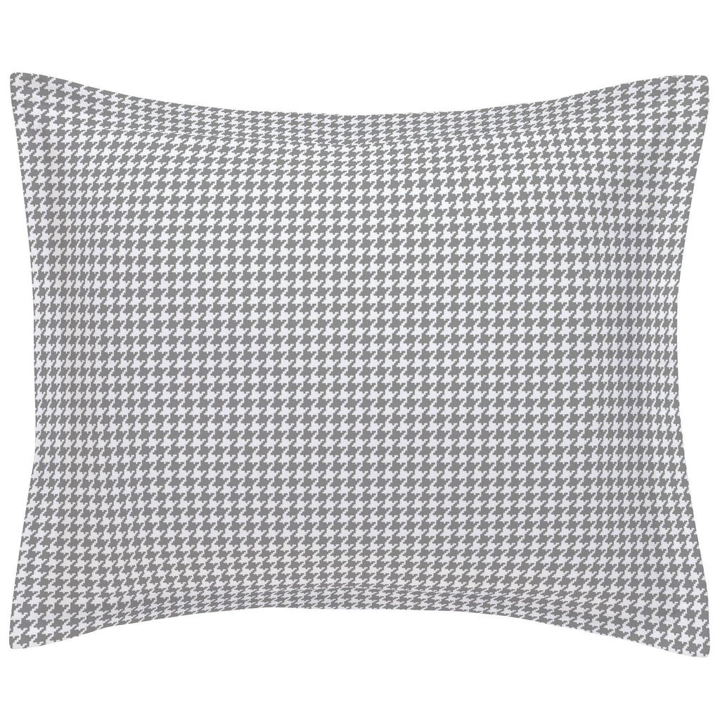 Product image for Cloud Gray and White Houndstooth Pillow Sham
