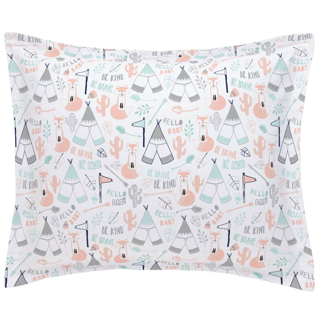 Product image for Peach Brave Fox Pillow Sham