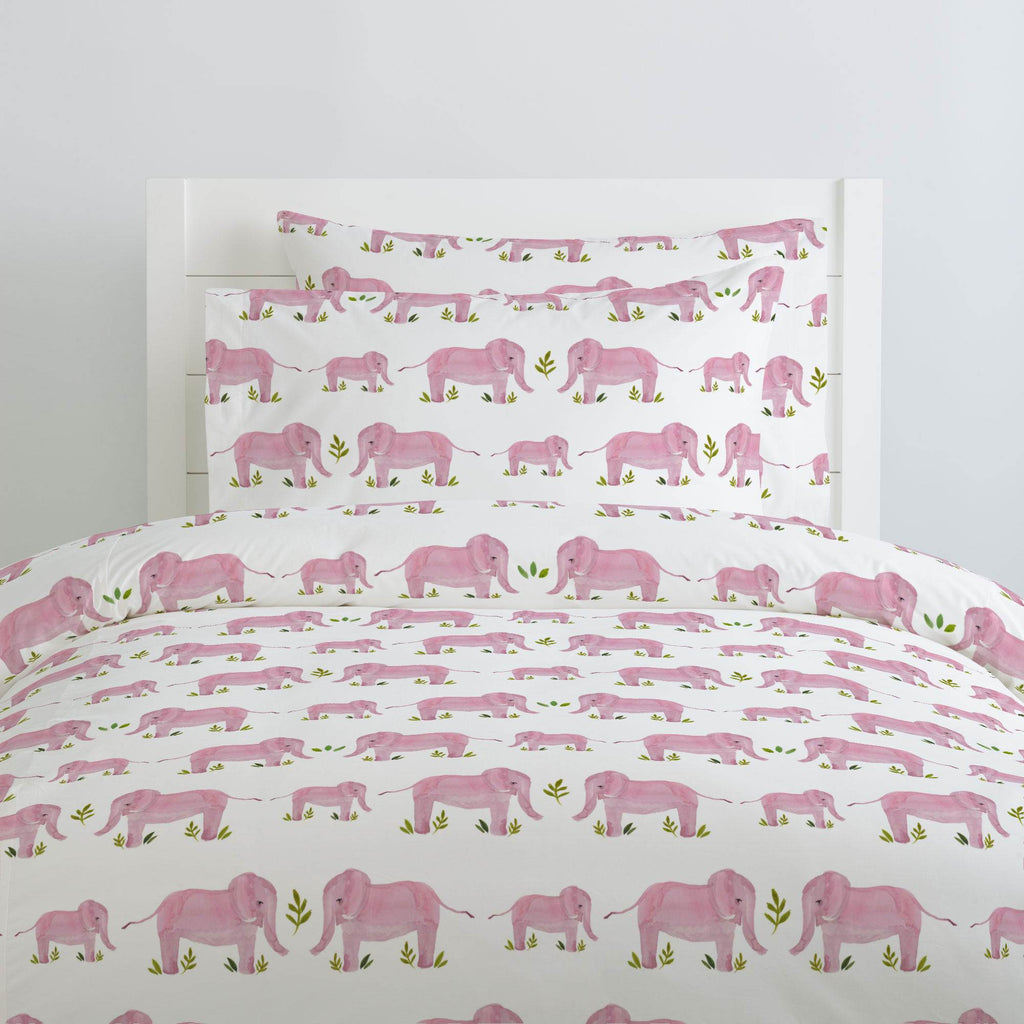 Product image for Pink Painted Elephants Duvet Cover