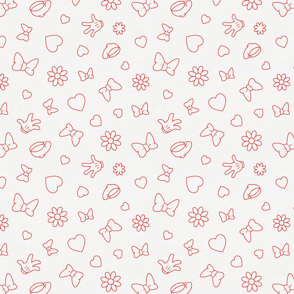 Product image for Disney© Red Minnie Icons Fabric