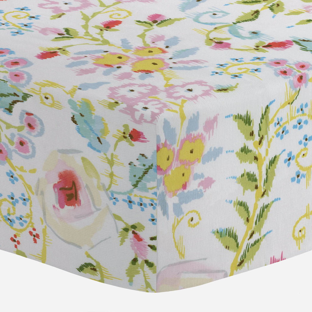 Product image for Pink Primrose Crib Sheet