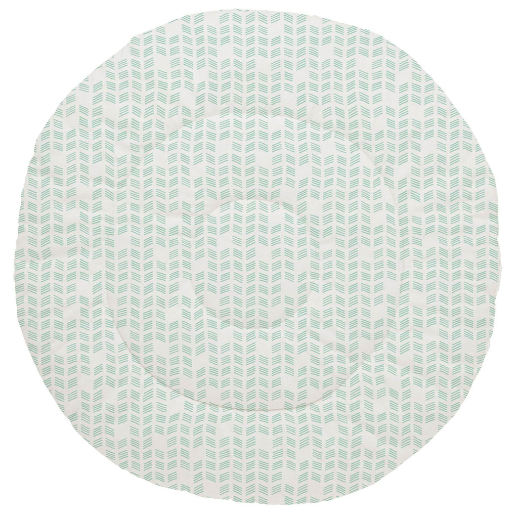Product image for Mint Tribal Herringbone Baby Play Mat