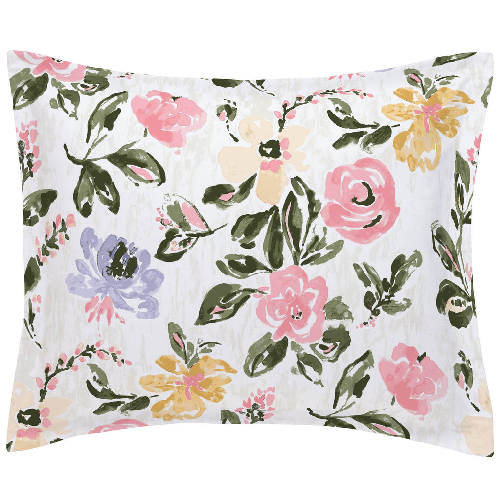 Product image for Coral Pink Garden Pillow Sham