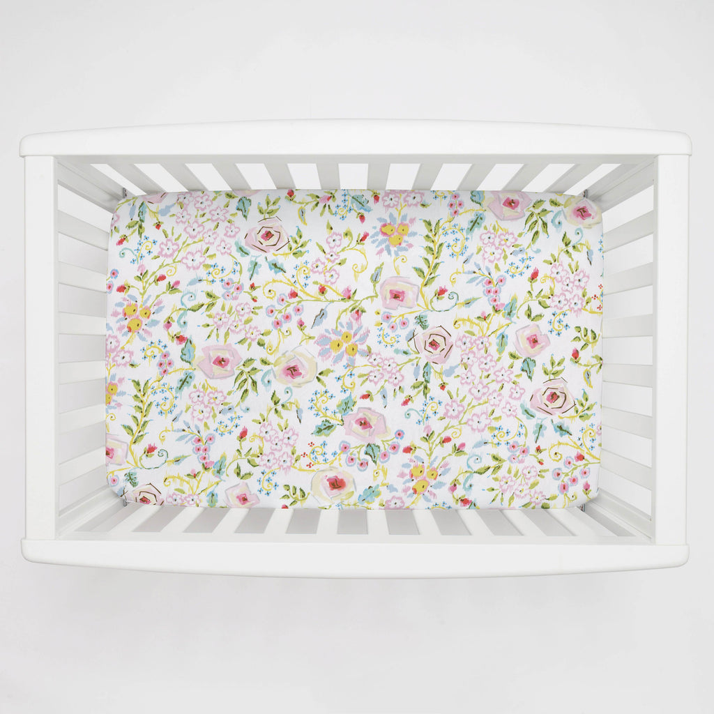 Product image for Pink Primrose Mini Crib Sheet
