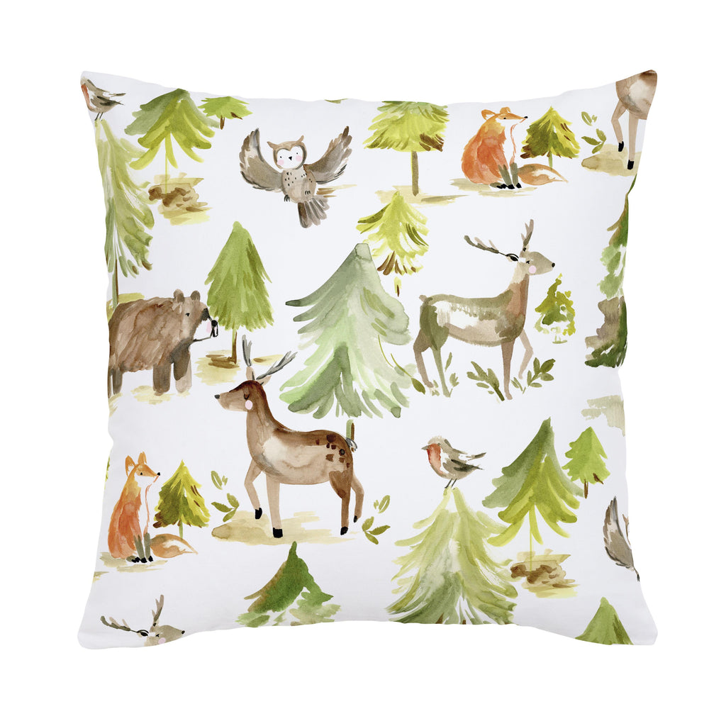 Product image for Painted Forest Throw Pillow