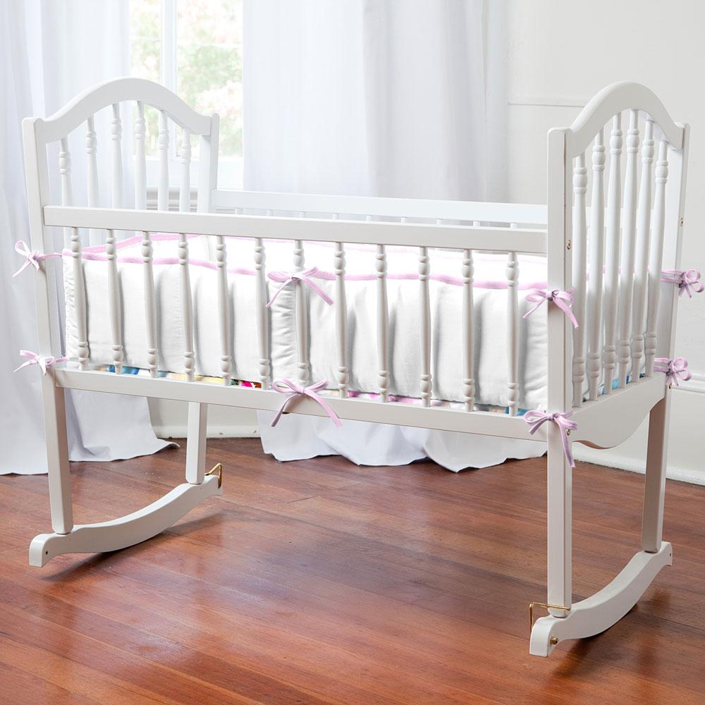 Product image for Orchid and Antique White Cradle Bumper
