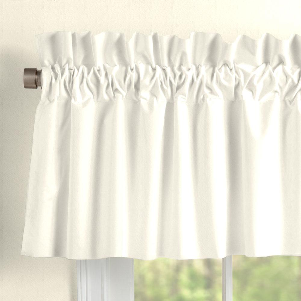 Product image for Solid Ivory Window Valance