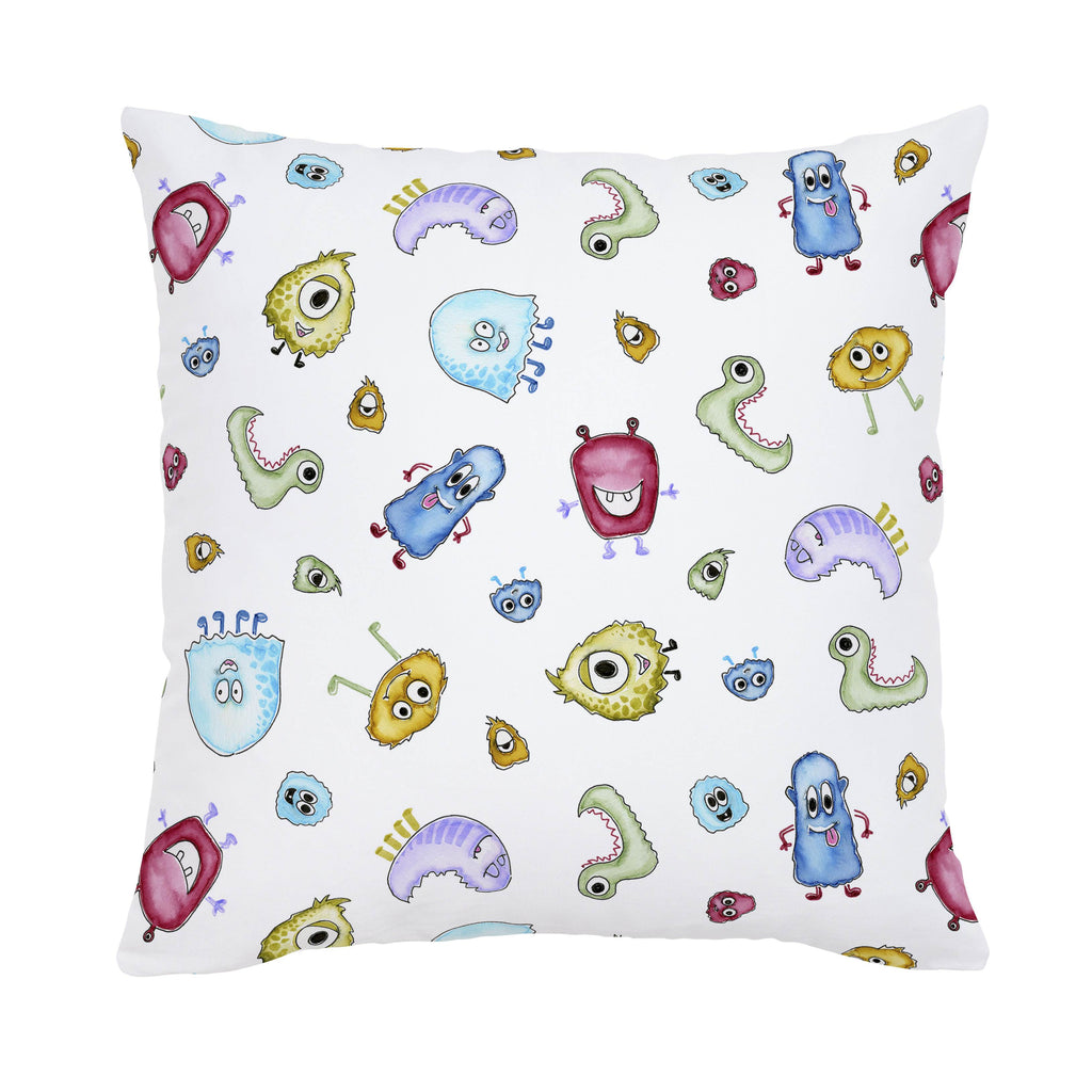 Product image for Watercolor Monsters Throw Pillow