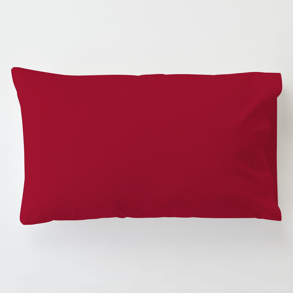 Product image for Solid Red Toddler Pillow Case with Pillow Insert