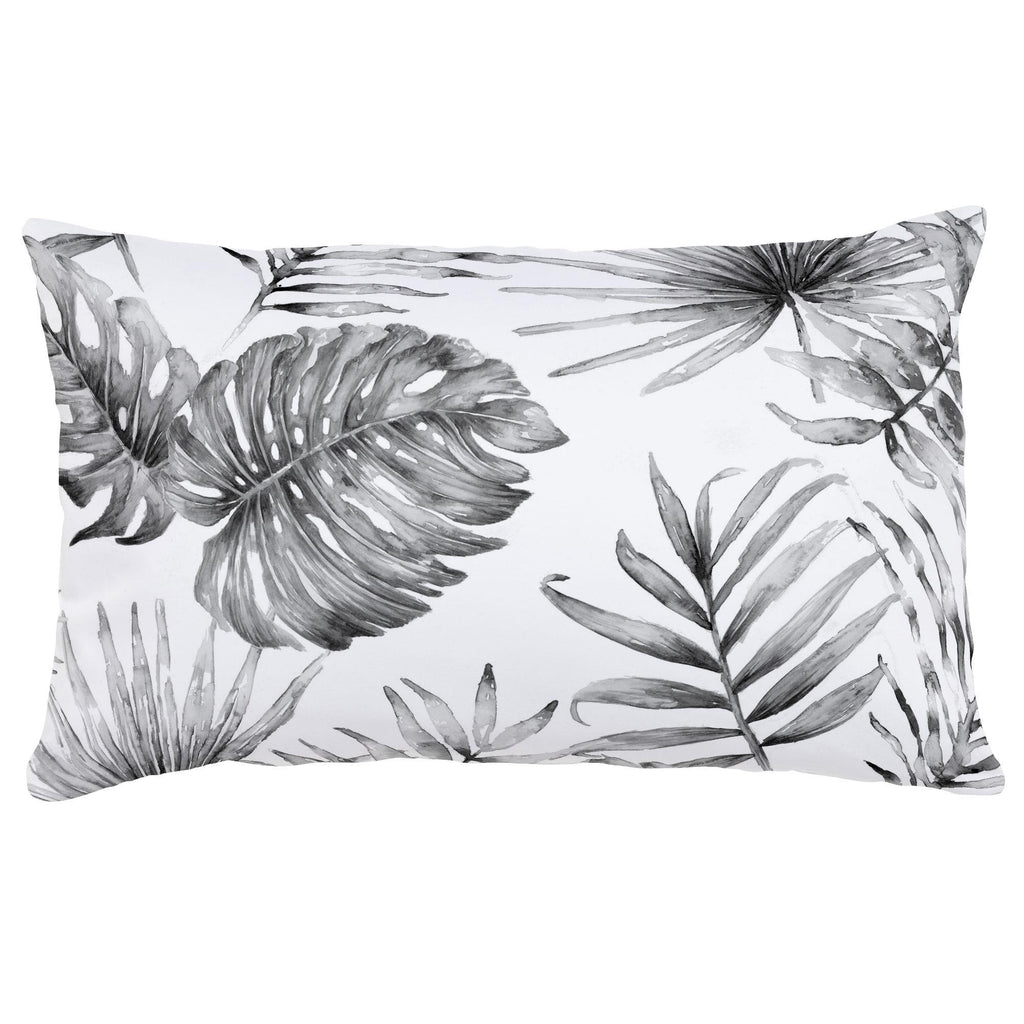 Product image for Gray Painted Tropical Lumbar Pillow