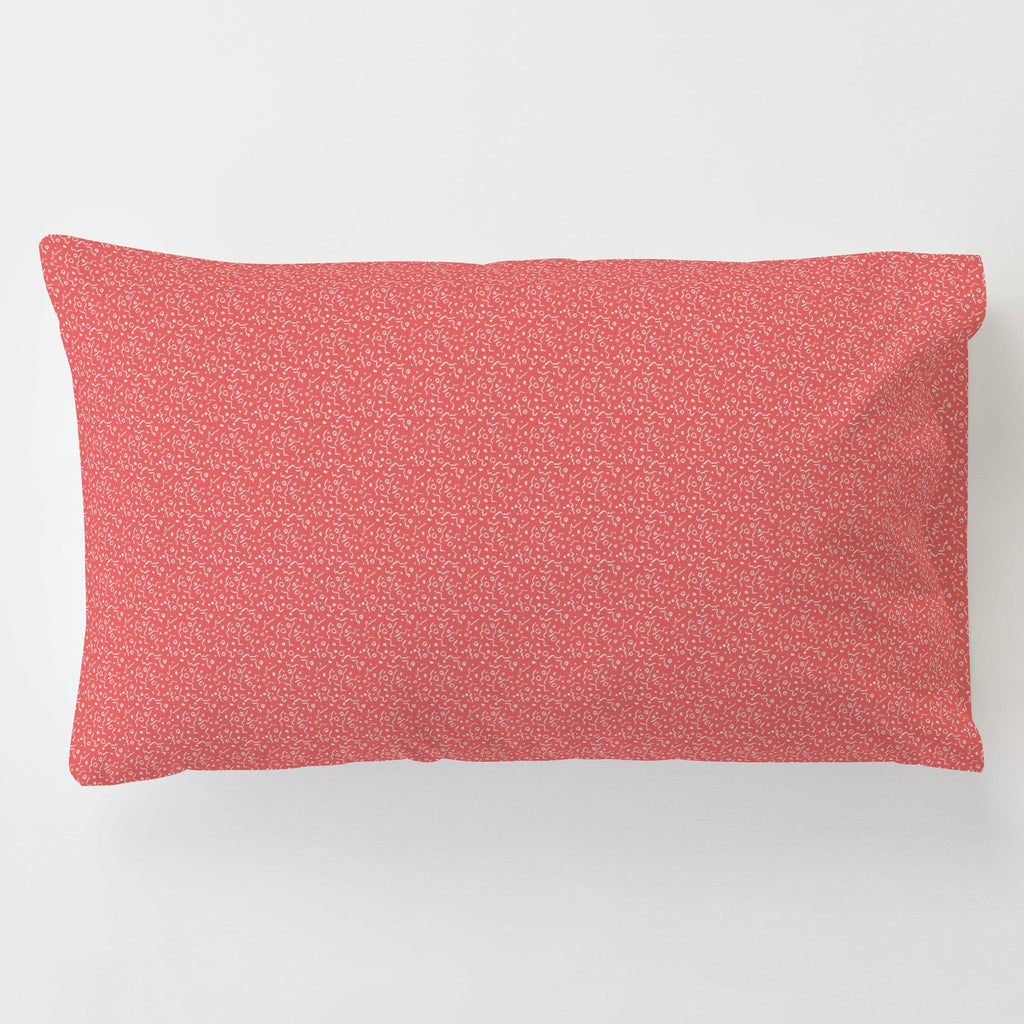 Product image for Coral Confetti Toddler Pillow Case with Pillow Insert