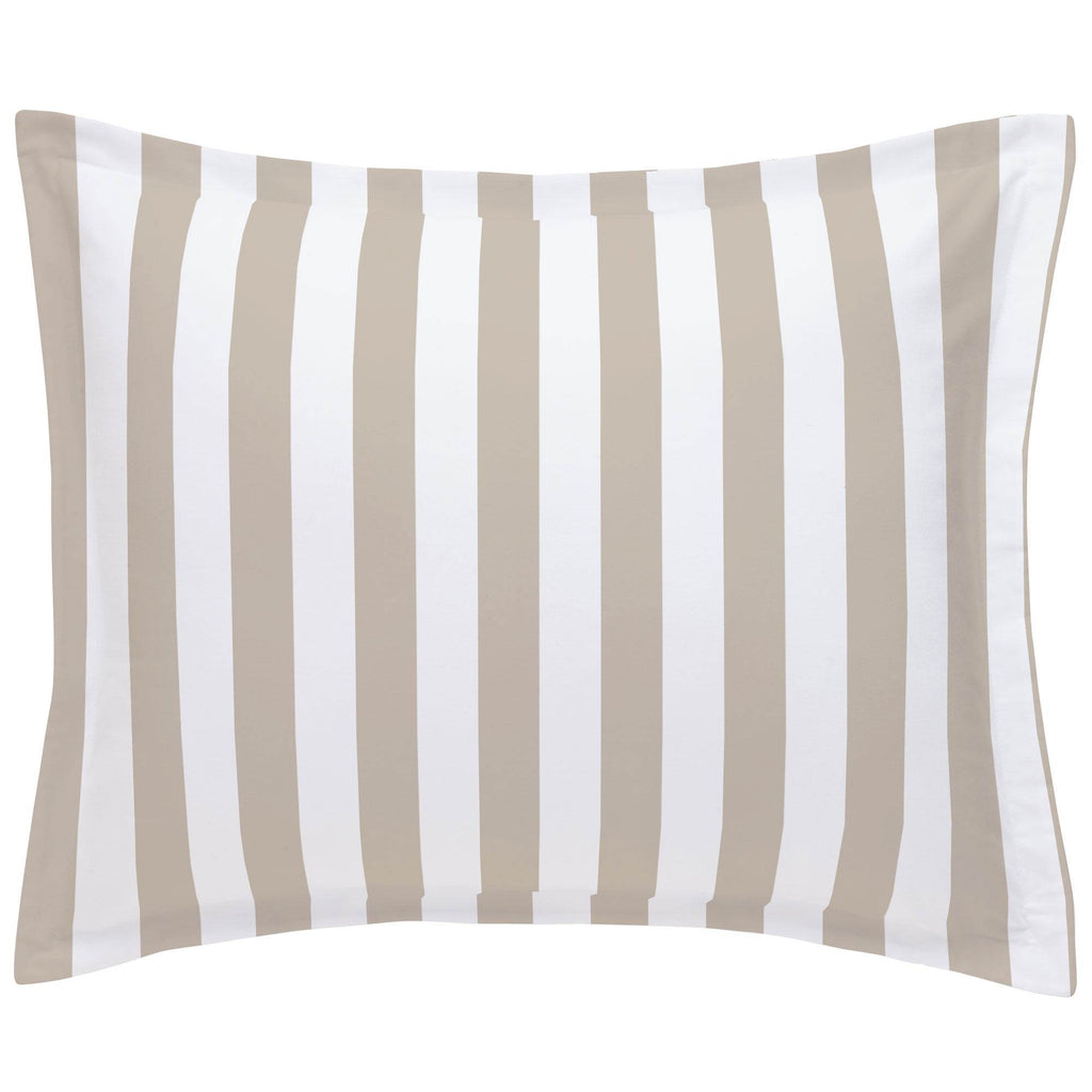 Product image for Taupe Stripe Pillow Sham