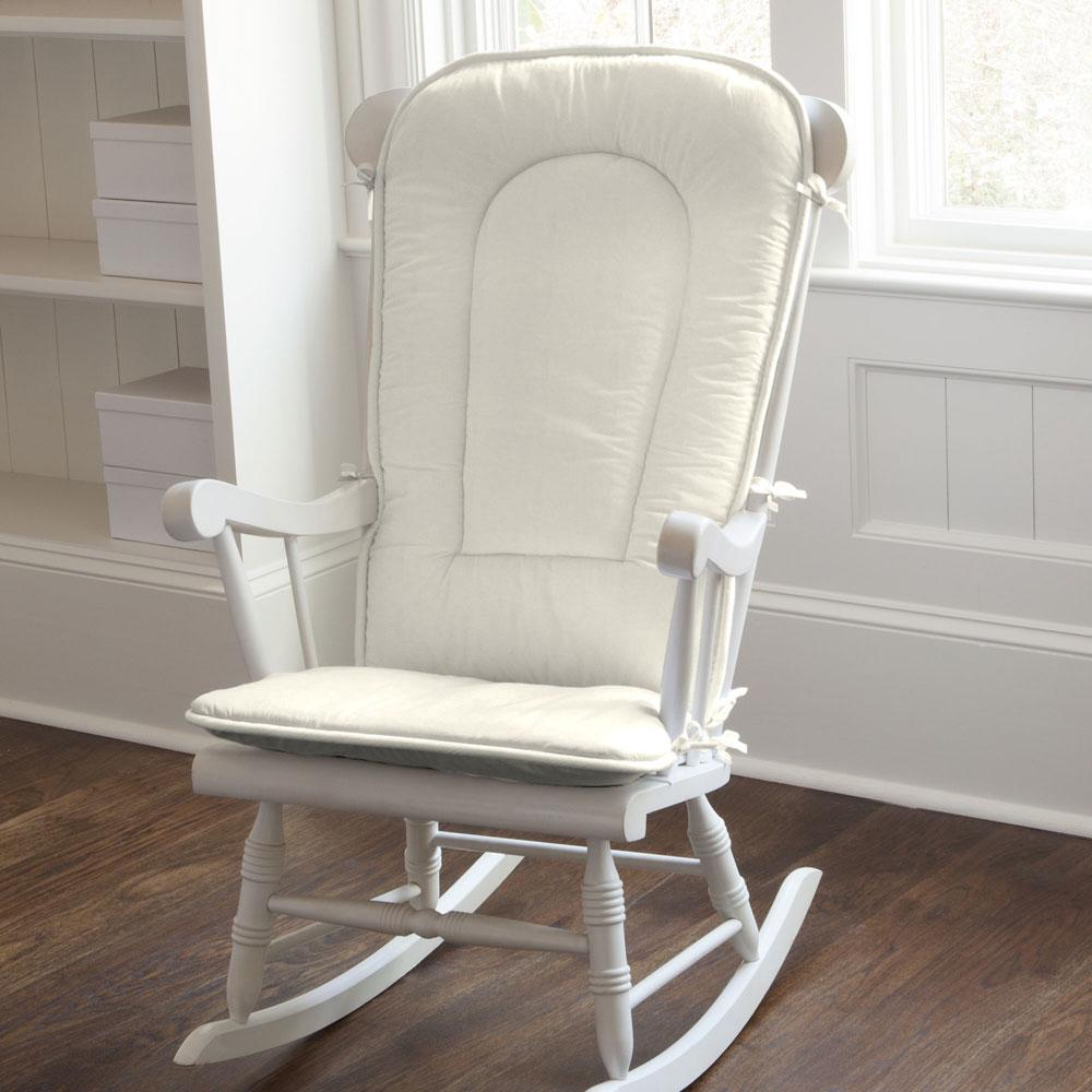 Product image for Solid Ivory Rocking Chair Pad