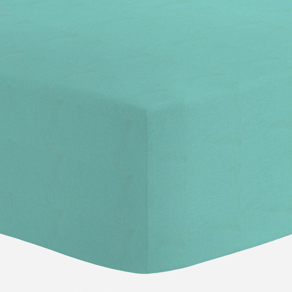 Product image for Solid Teal Crib Sheet