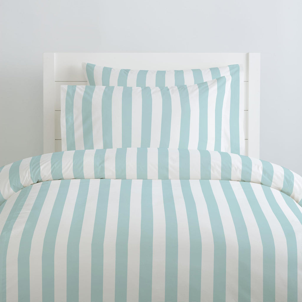 Product image for Mist Canopy Stripe Duvet Cover