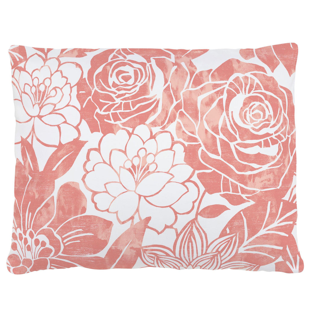 Product image for Light Coral Modern Blooms Accent Pillow