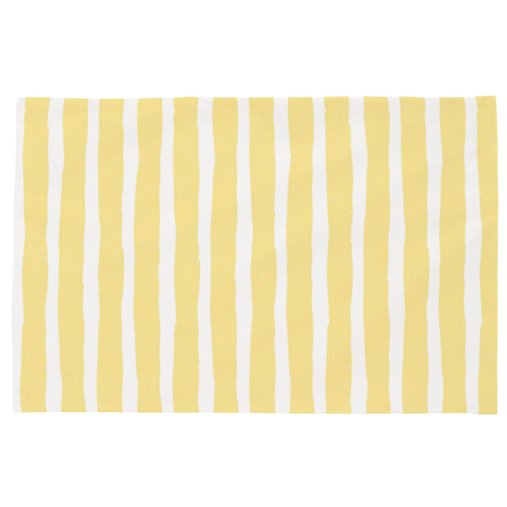 Product image for Banana Yellow Weathered Stripe Toddler Pillow Case