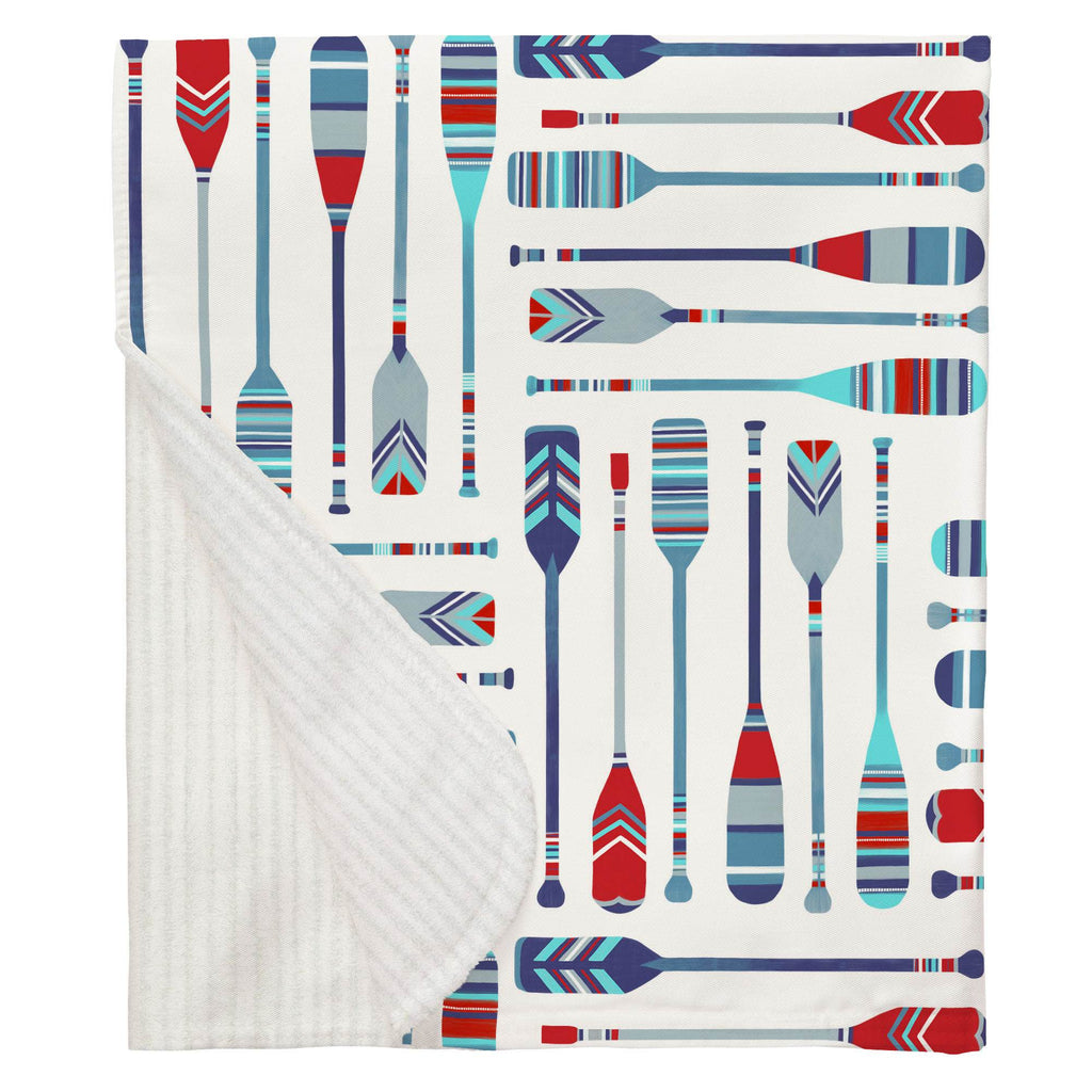 Product image for Red and Blue Oars Baby Blanket
