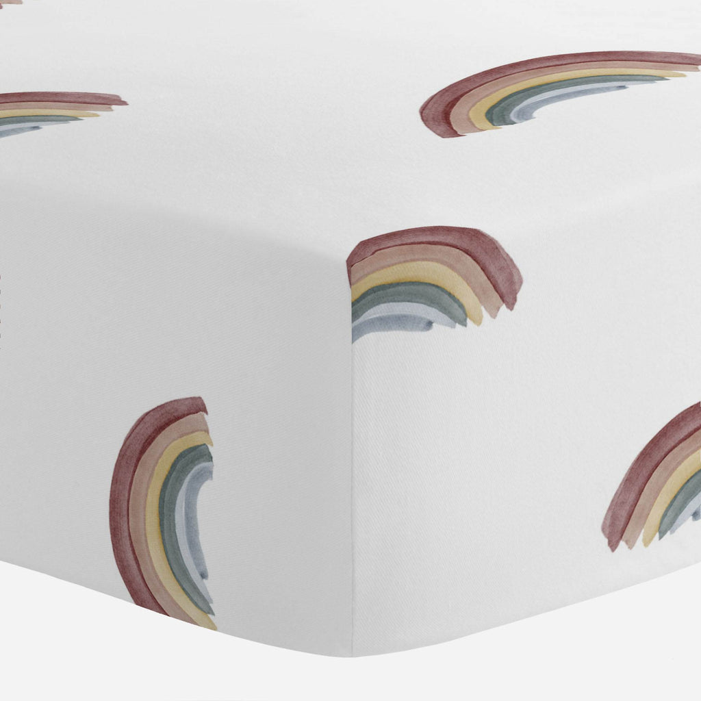 Product image for Soft Rainbows Crib Sheet