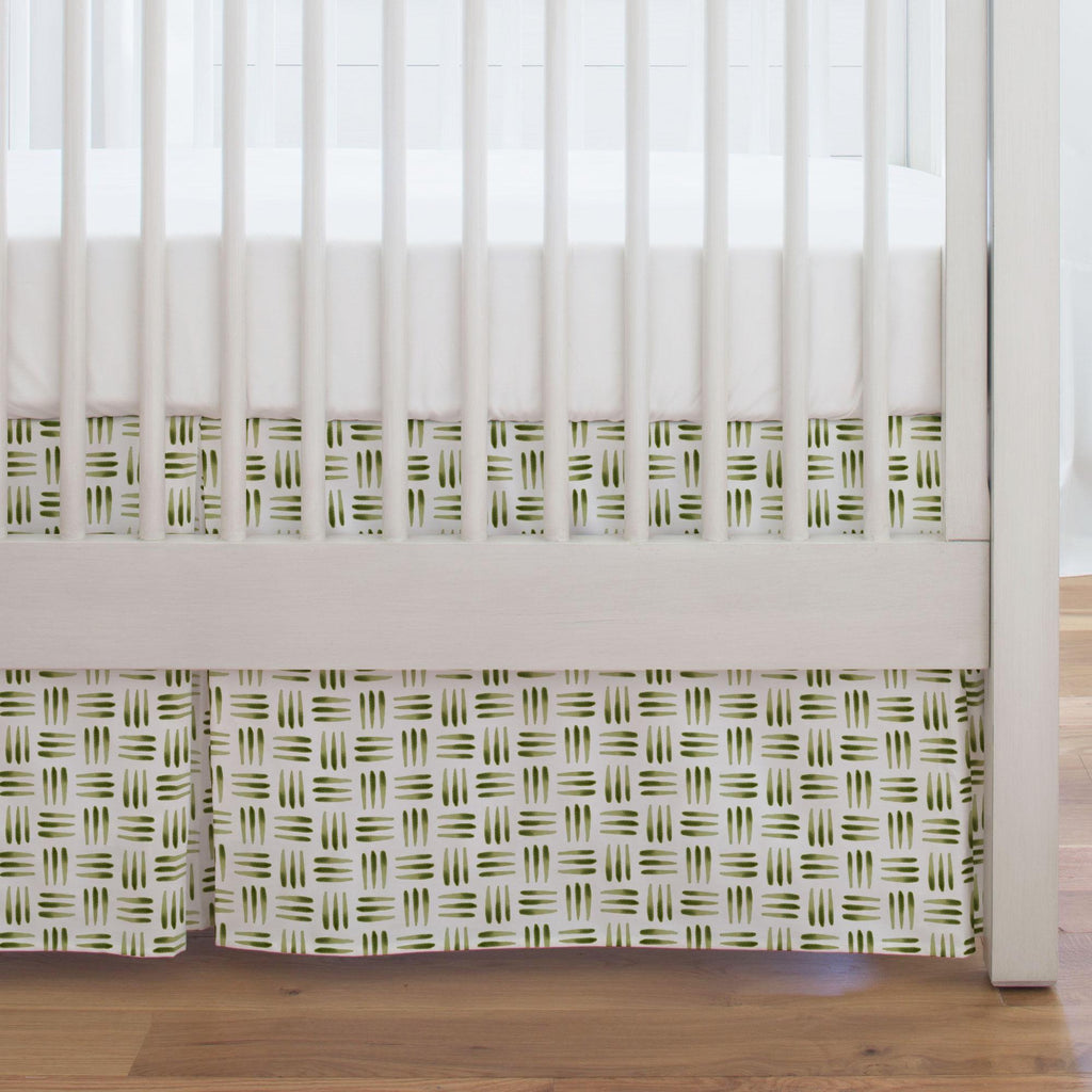 Product image for Sage Basket Crib Skirt Single-Pleat