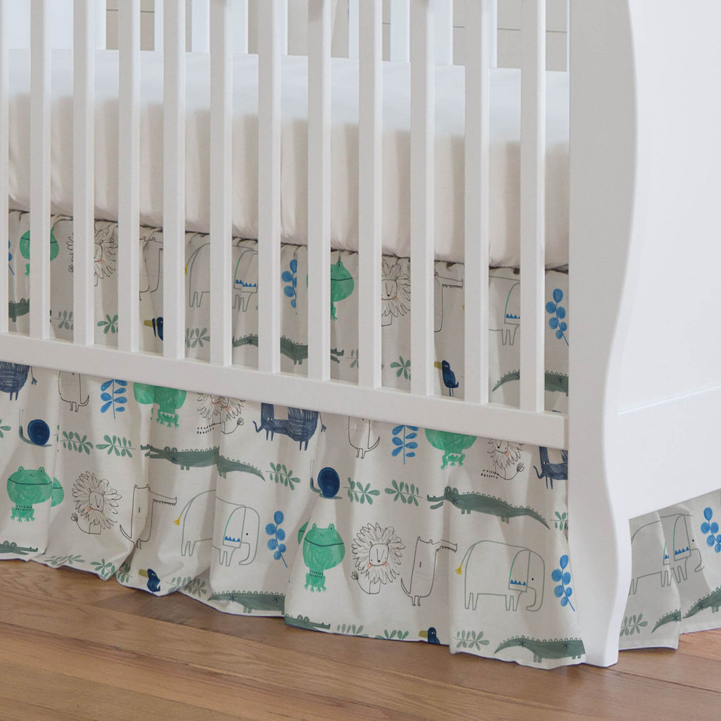 Product image for Safari Friends Crib Skirt Gathered