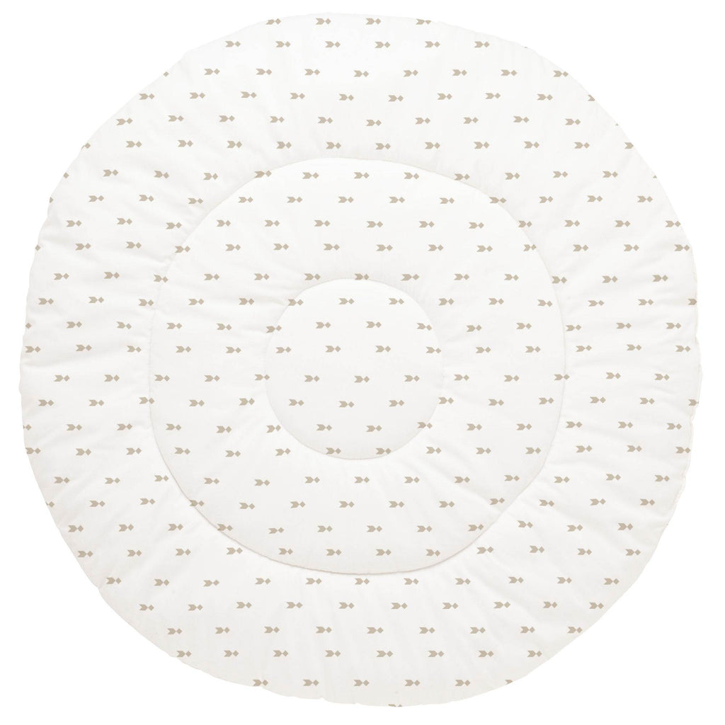 Product image for Taupe Flying Diamonds Baby Play Mat