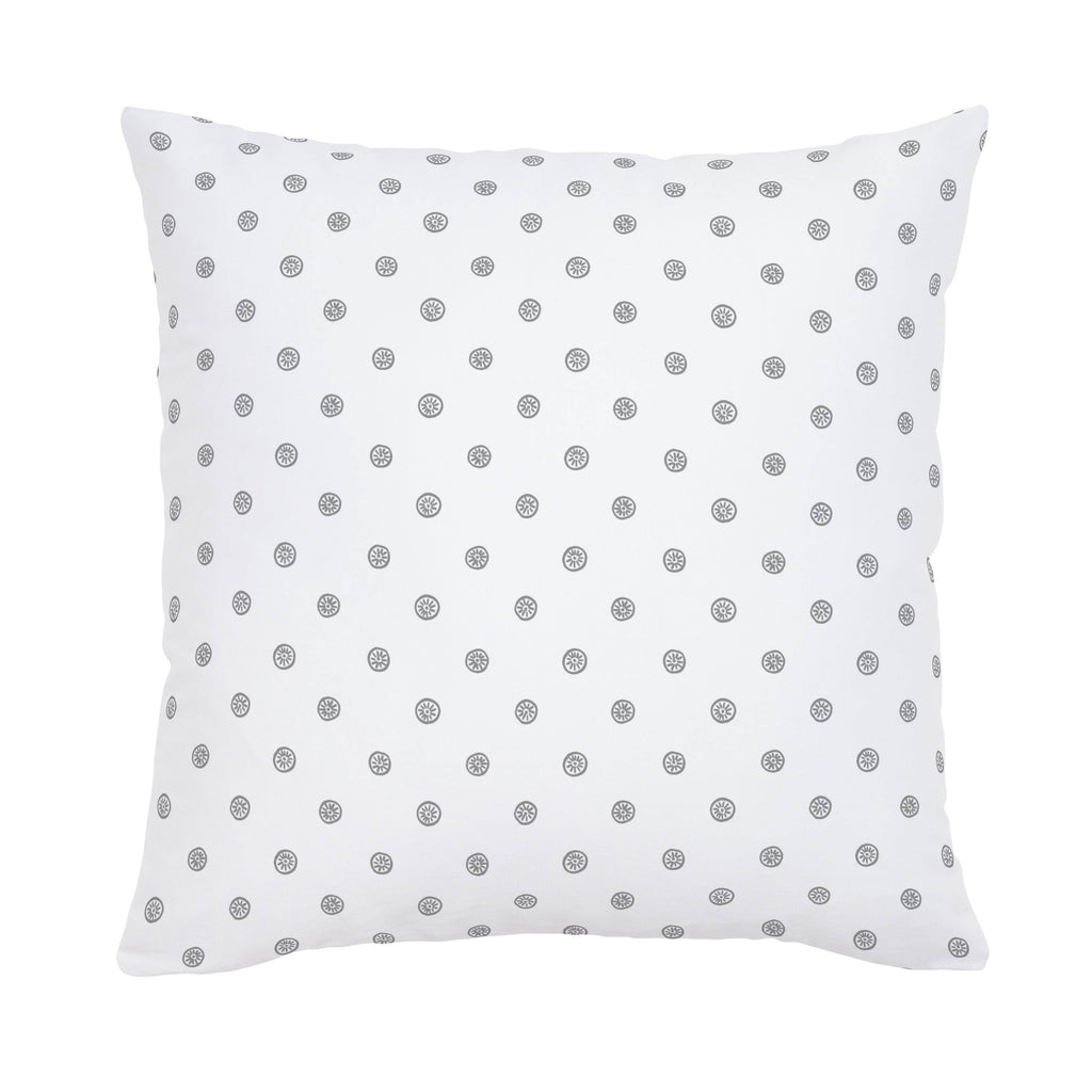 Product image for Cloud Gray Ditsy Dot Throw Pillow