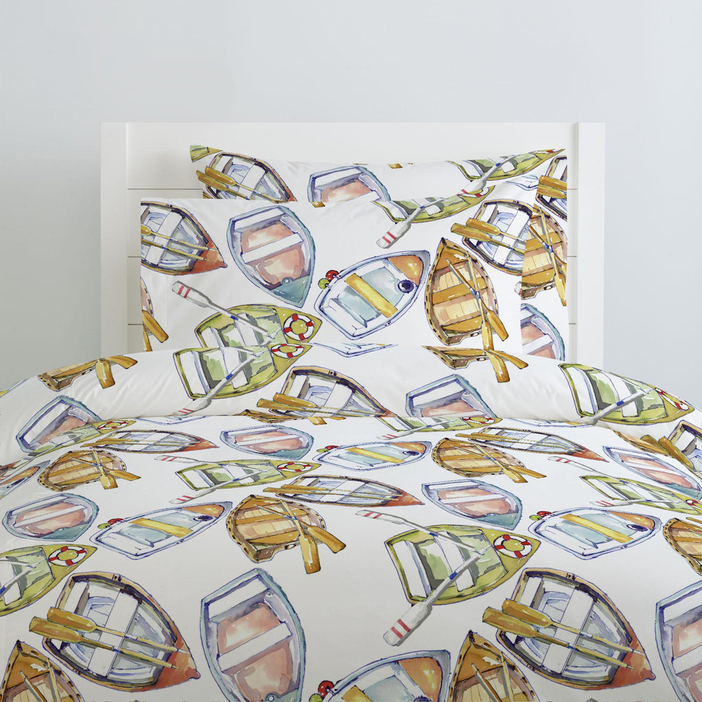 Product image for Watercolor Boats Duvet Cover