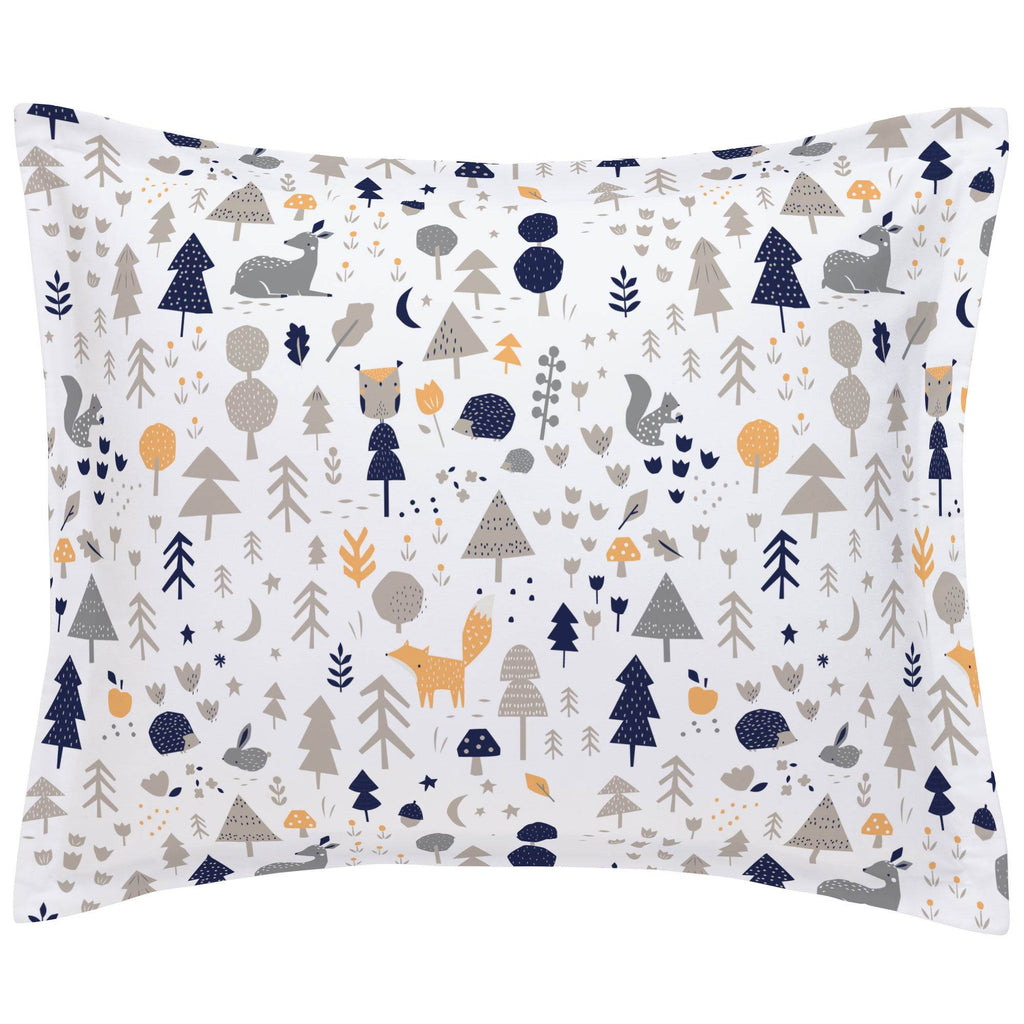 Product image for Taupe and Windsor Navy Baby Woodland Pillow Sham