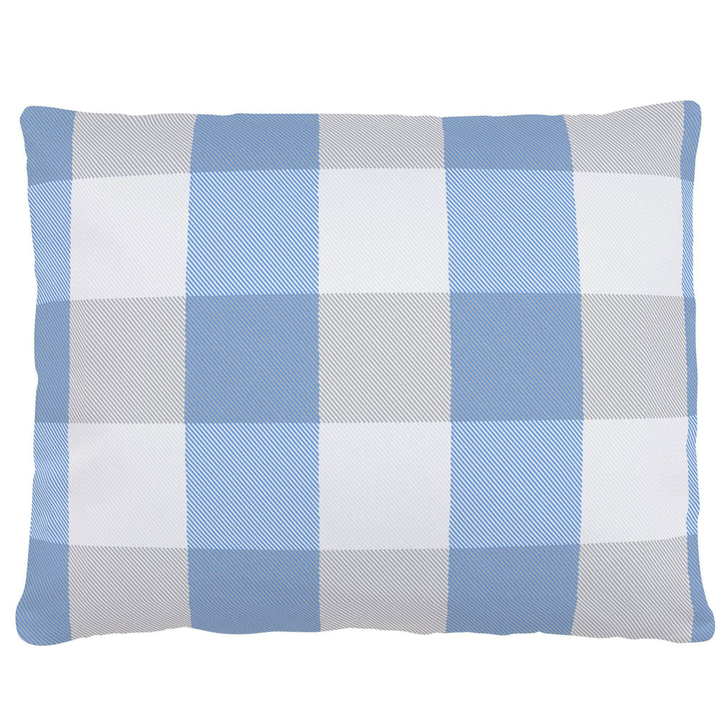 Product image for Blue and Silver Gray Buffalo Check Accent Pillow