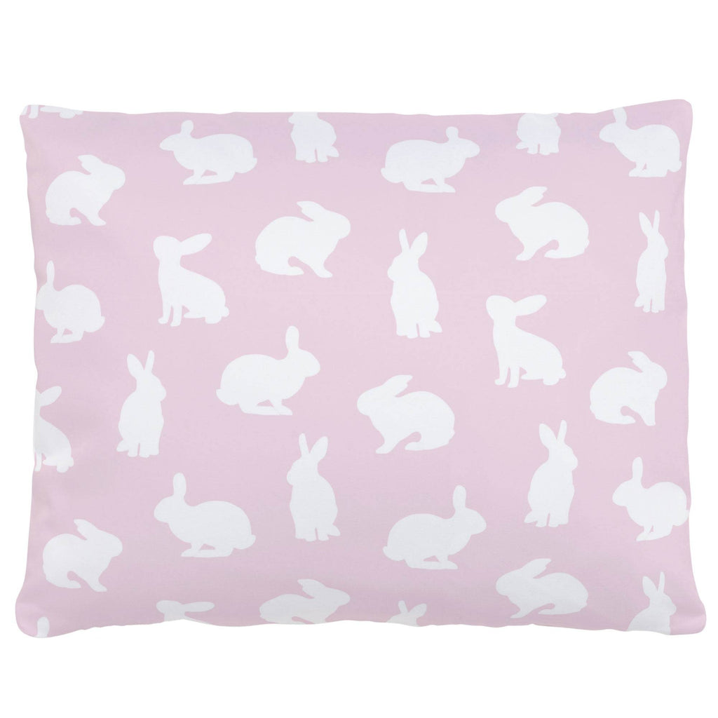 Product image for Pink and White Bunnies Accent Pillow