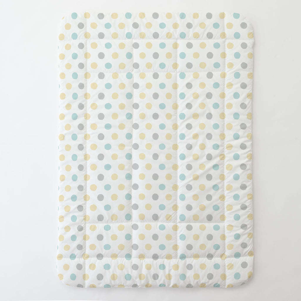 Product image for Mist and Gray Brush Dots Toddler Comforter