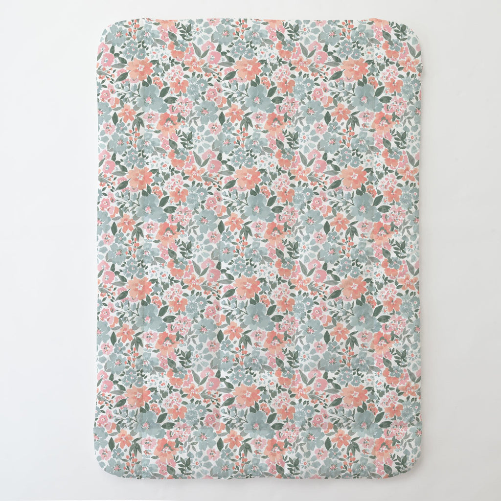 Product image for Peach Prairie Floral Toddler Comforter