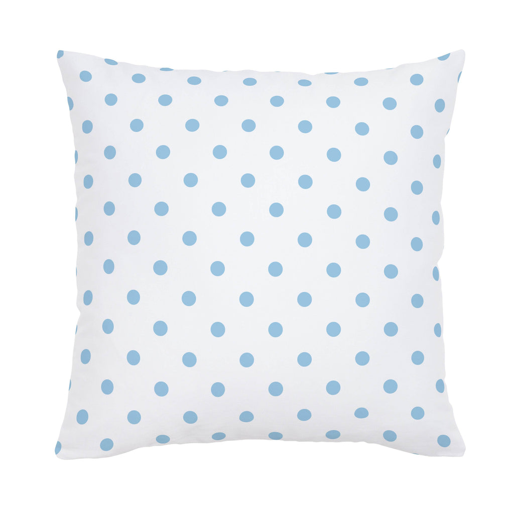 Product image for White and Lake Blue Dot Throw Pillow